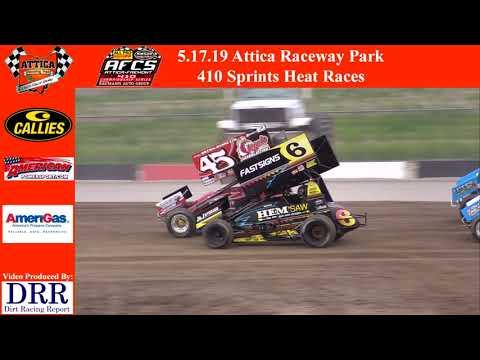 5.17.19 Attica Raceway Park 410 Sprints Heat Races