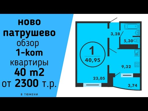 ЖК НОВО ПАТРУШЕВО ТЮМЕНЬ Обзор 1 ком квартиры в НовоПатрушево