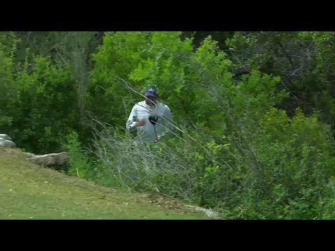 Sergio Garcia throws his driver at the Valero Texas Open