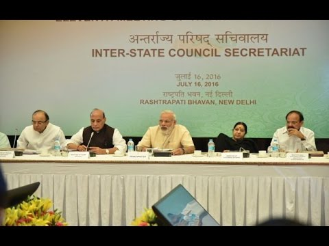 PM Modi's speech at the inauguration of the 11th meeting of the Inter-State Council in New Delhi