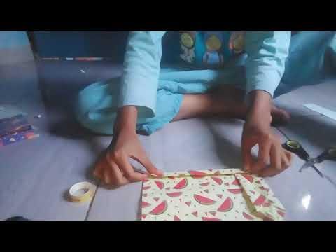 Membuat paper bag dari kertas kado