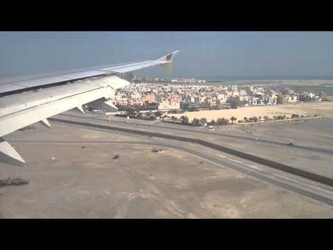 Gulf air landing to Manama airport