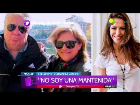 Marianela Vannucci dio la cara: No soy una mantenida