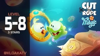 Cut The Rope: Magic 5-8 Ancient Library Walkthrough (3 Stars)