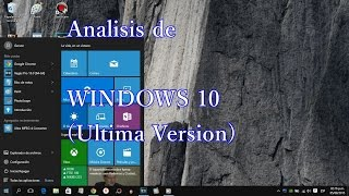 Análisis de  Windows 10, review en español (2016)