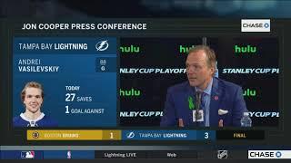 Jon Cooper -- Tampa Bay Lightning vs. Boston Bruins Game 5 05/06/2018
