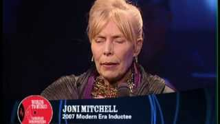 joni mitchell is inducted into the canadian songwriters hall of fame cshf