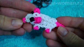 фигурки из резинок. Мышка из резинок без станка