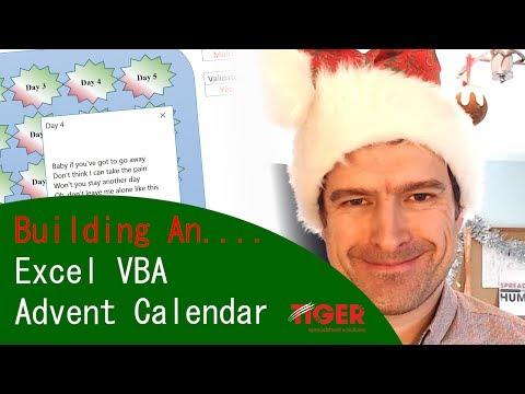 Merry Christmas Excel Vba Advent Calendar Tiger Spreadsheet