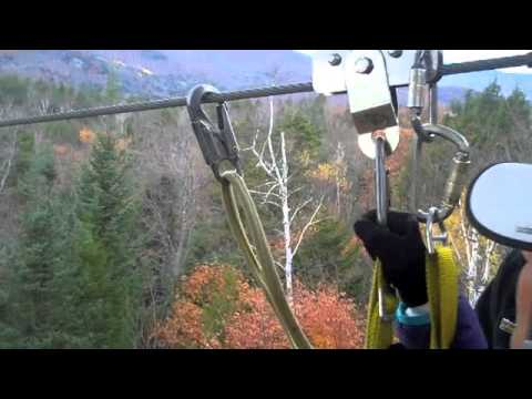 Zip Lining Alpine Adventures Lincoln Nh 2012 Youtube