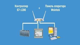 Контроллер Siemens S7-1200 + панель оператора Weintek. Обзор ПО для программирования.