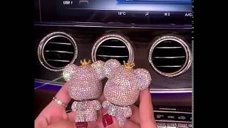 Bling Bear Car Air Vent Bling Decoration with DIY Freshener