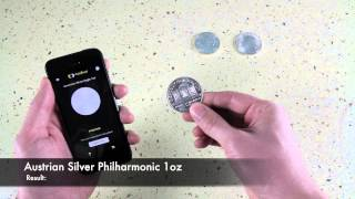 American Silver Eagle - natural frequencies test with the CoinTrust app