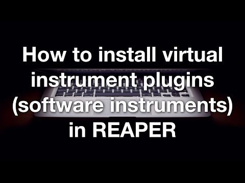 How to install virtual instrument plugins (software instruments) in REAPER