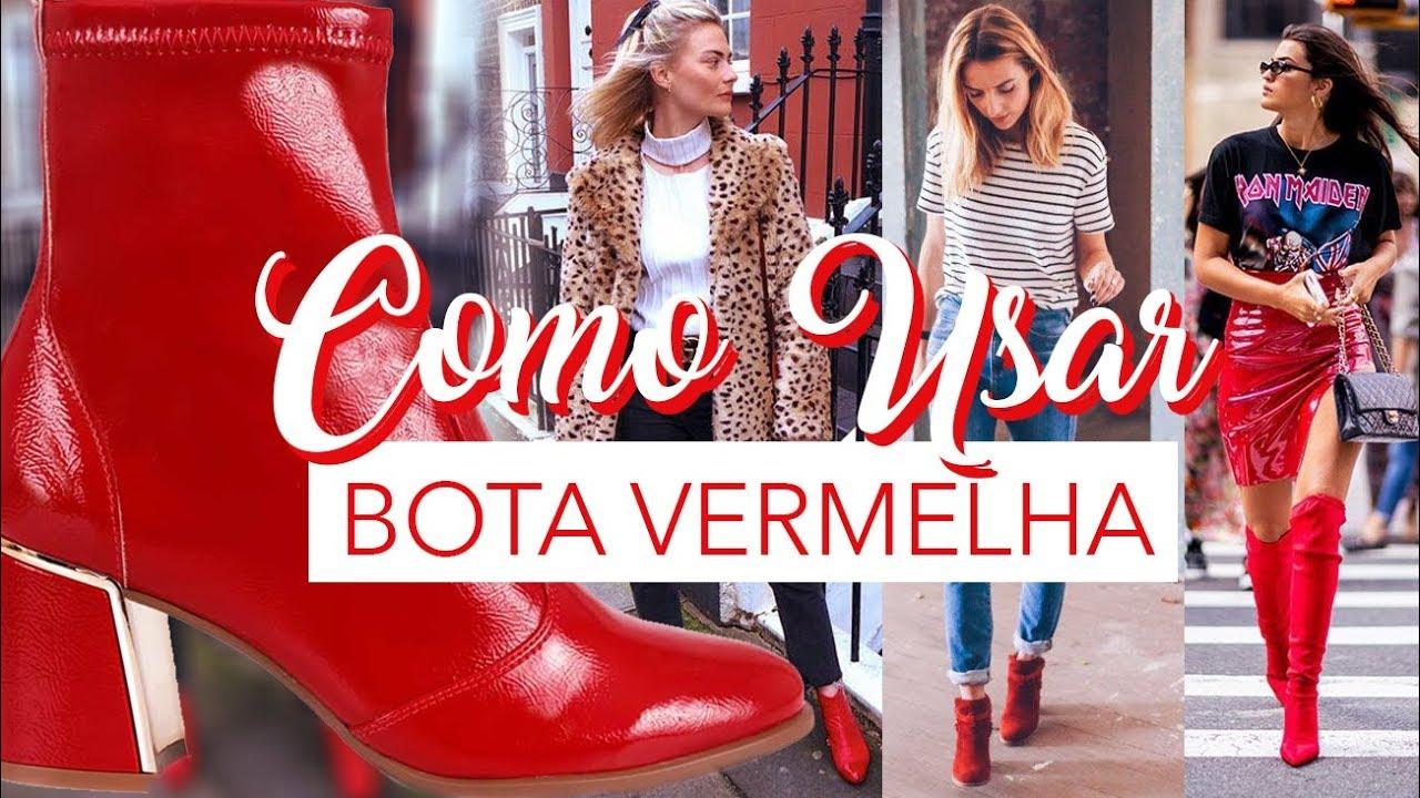 803f80692 Bota Vermelha - Como usar? Dicas de Looks feat Susi Loiola - YouTube