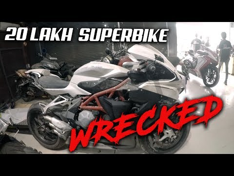OMG! Brand new Superbike Wrecked (Superbikes in India)
