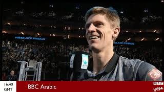 #بروح_رياضية.. لاعب #تنس يفاجئ زوجته و يطلب من الجماهير الغناء لها بمناسبة عيد ميلادها