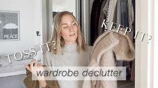 To keep or to toss? | 5 tips to declutter your wardrobe