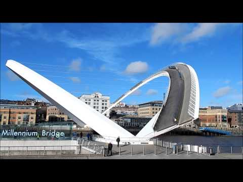 Tilting Opening Newcastle Gateshead Millennium Bridge - Elapsed time
