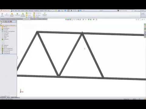 SolidWorks tutorial: Truss bridge with weldments tools