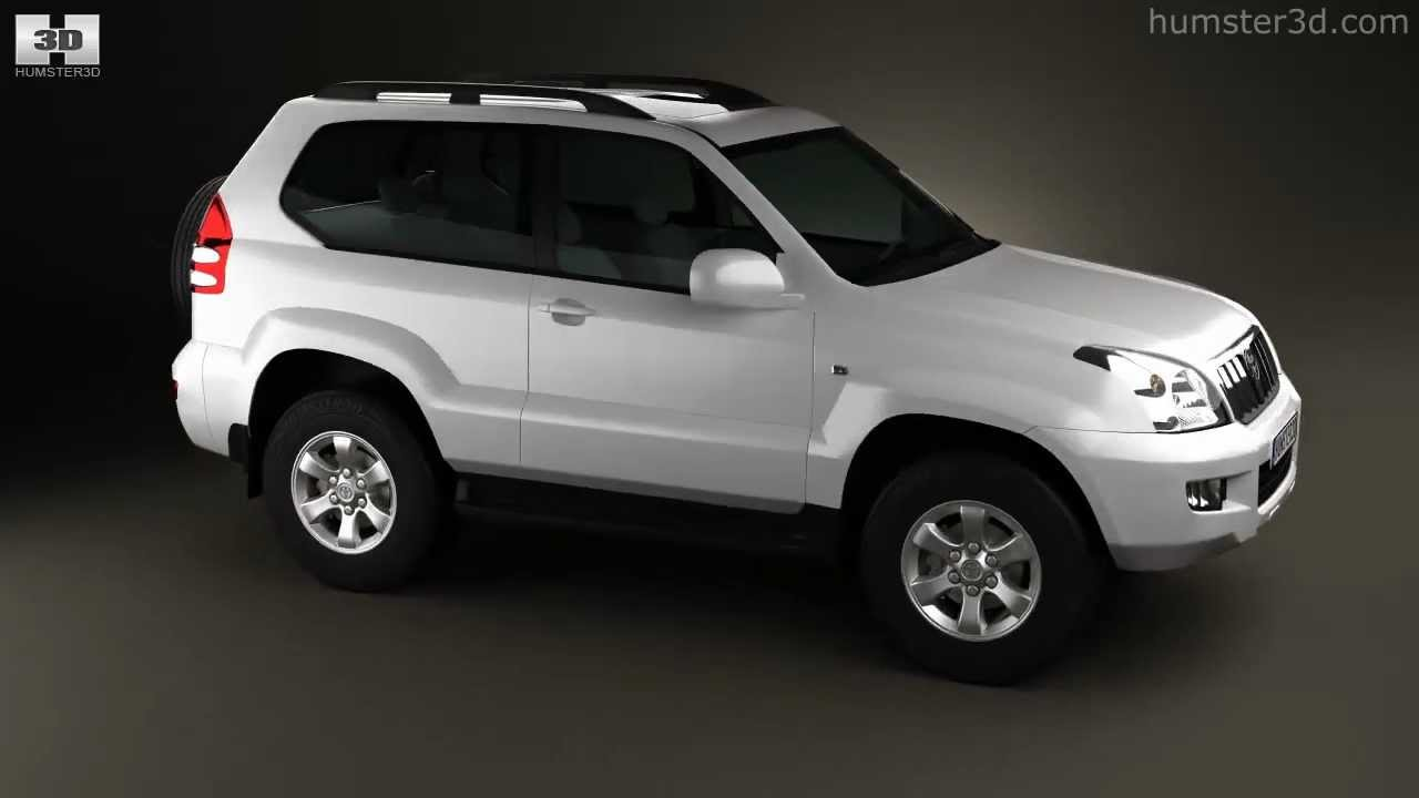 Toyota Land Cruiser Prado 120 3 Door 2009 By 3d Model