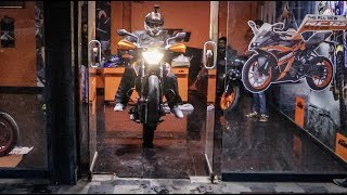 Taking Delivery Of My First KTM Bike For YouTube Stunt Videos