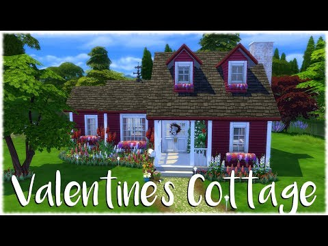 The Sims 4: Speed Build // VALENTINE'S DAY COTTAGE // NO CC  