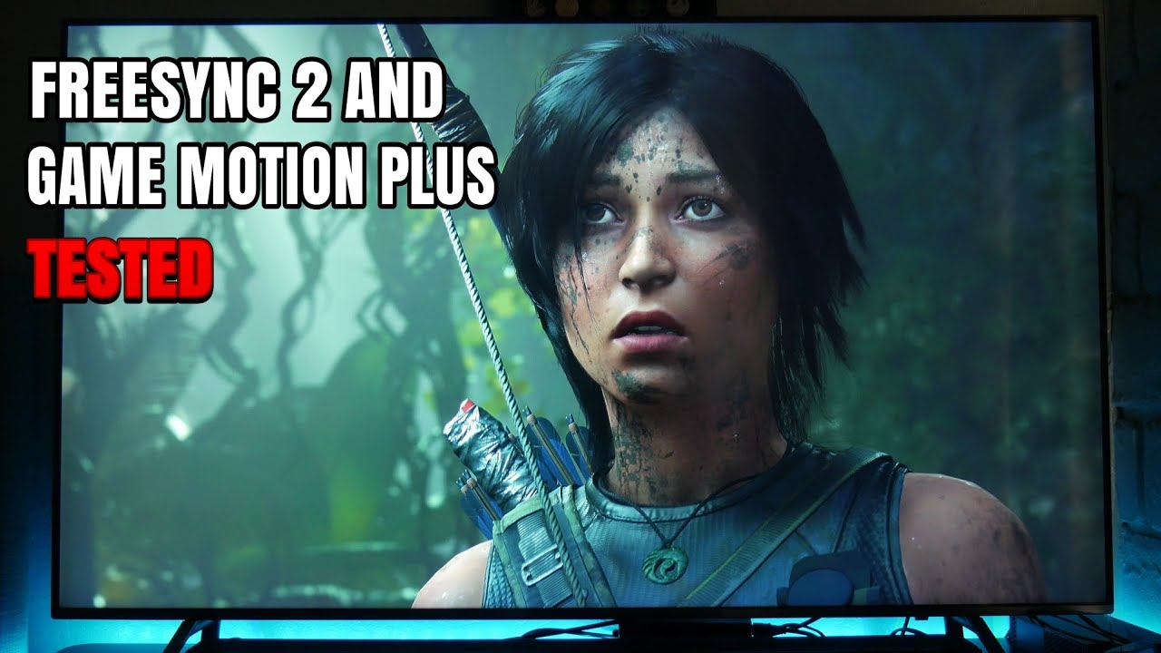 Shadow of the Tomb raider Xbox one X Freesync and Game Motion Plus on  Samsung Q6FN
