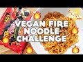 Vegan Spicy Noodle Challenge Mukbang ~ Q&A for 30K!