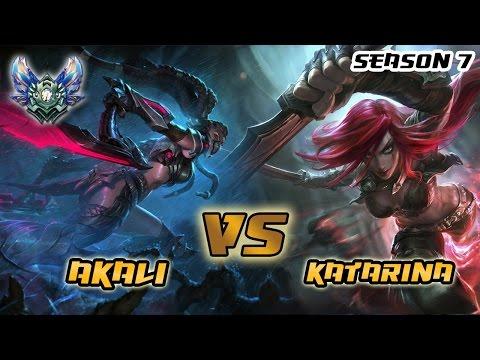 Ranked de alto nivel - Akali 2k17 vs Zandl (kata #1 de LAS) - Diamond/Challenger Elo