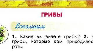 Окружающий мир 2 класс, Перспектива, с.86-89, тема урока «Грибы»