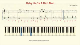 "How To Play Piano: The Beatles ""Baby You"