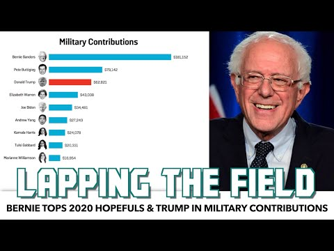 Bernie Tops 2020 Field & Trump In Military Member Donations