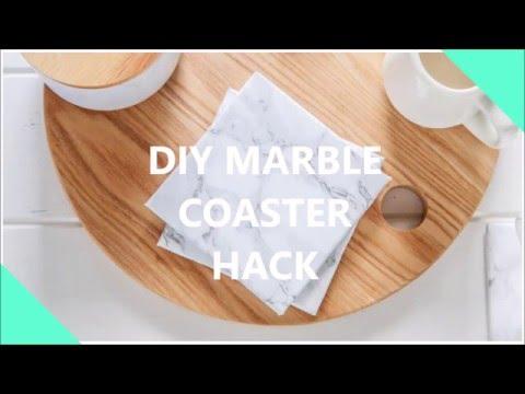 DIY Marble Coaster Hack