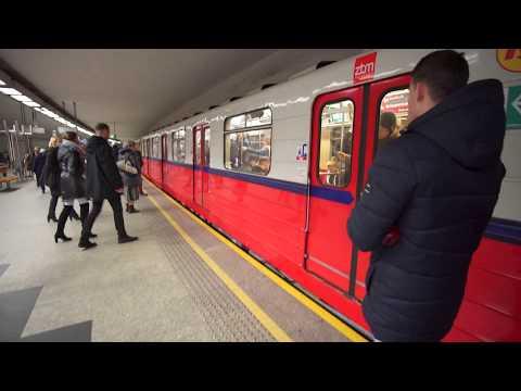 Poland, Warsaw, metro ride from Politechnika to Pole Mokotowskie