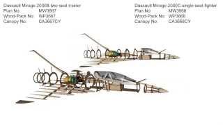 Dassault Mirage 2000b & 2000c Rc Model Plans
