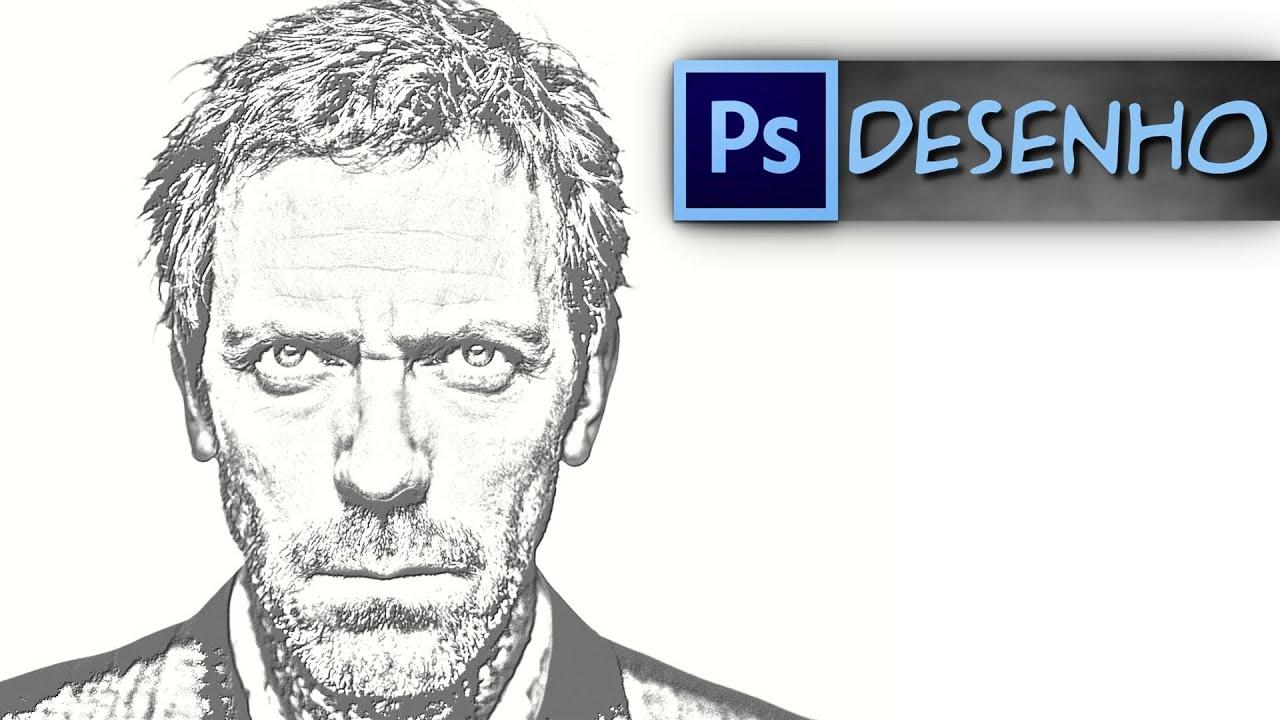 Transformando foto em desenho photoshop online 26