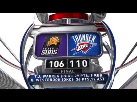 Phoenix Suns vs Oklahoma City Thunder - December 31, 2015