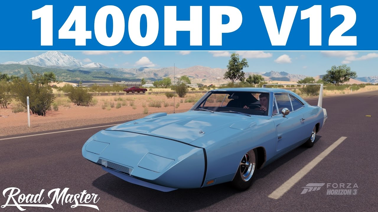 Forza Horizon 3 - 1969 Doge Charger Daytona Top Speed - YouTube