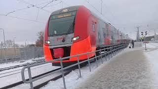 Поезд Ласточка прибытие и отправление со станции Дзержинск