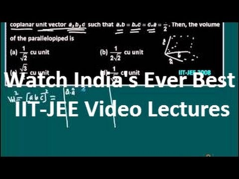 IIT Maths video lectures vectors | JEE advanced maths shortcuts ...