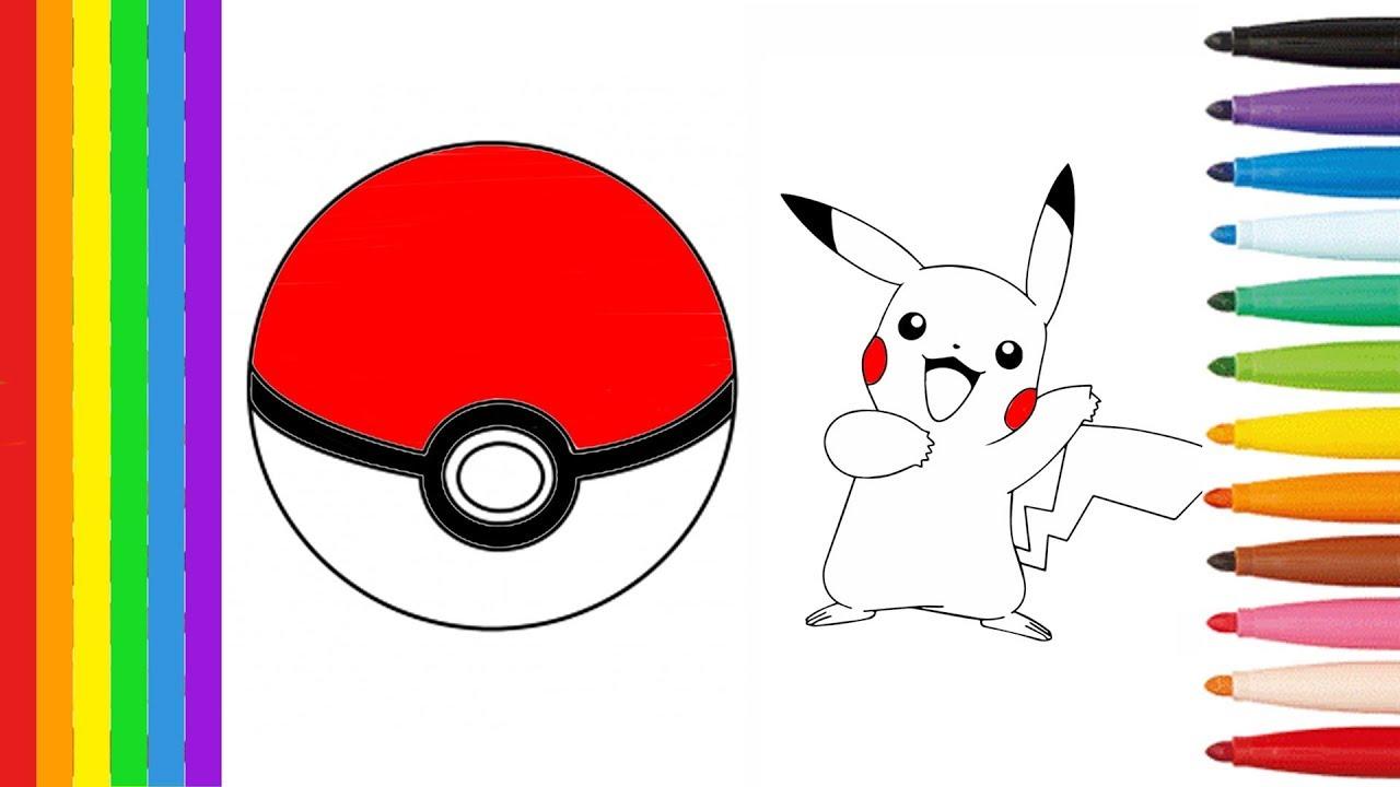 Pokemon Coloring Pages Pokeball Pikachu Dessin Pour Enfants