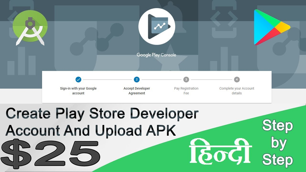 How to create a google play developer console account 2018   Indian Debit  Card
