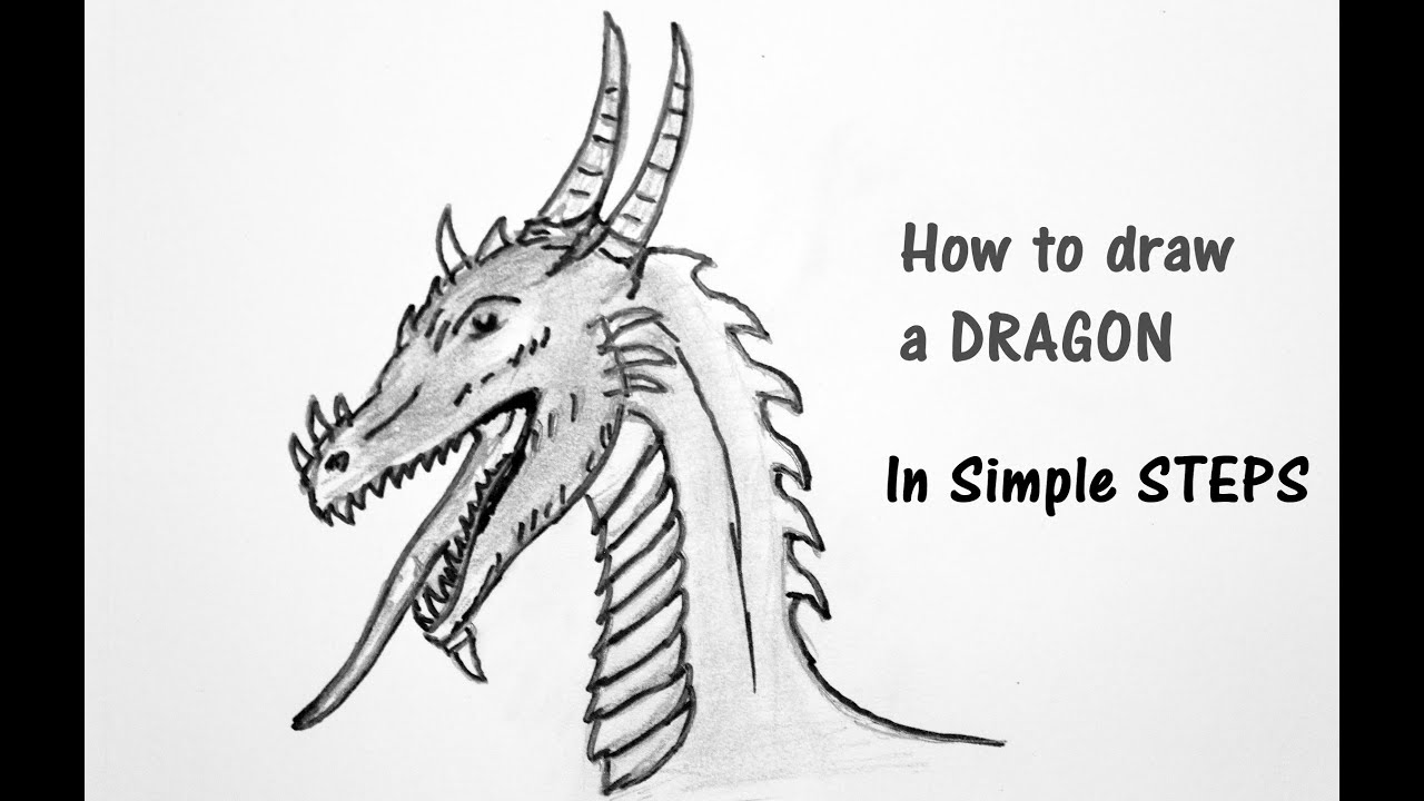 Learning to draw a dragon step by step (coloring)