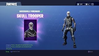 Buying the Skull Trooper (Skeleton Skin) in Fortnite