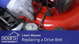 Replacing The Drive Belt On A Lawn Mower Youtube