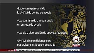 Grupo externo tomó control de centro de acopio: UNAM