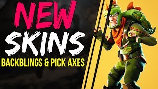 Fortnite Battle Royale UPCOMING NEW SKINS, BACK BLINGS, PIX AXES V3.1.0 Rex Outfits Legendary, Rare