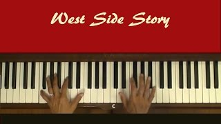 Video West Side Story Maria Piano Cover with Tutorial download MP3, 3GP, MP4, WEBM, AVI, FLV September 2018