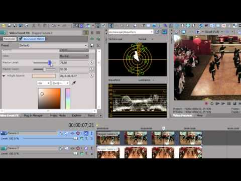 Color Match in Sony Vegas Pro